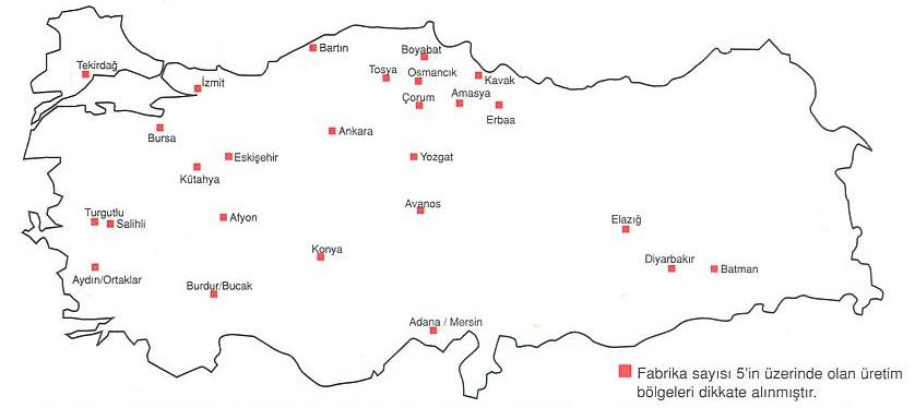 tugla fabrikalari tr1 Türkiye de tuğla fabrikaları dağılımı
